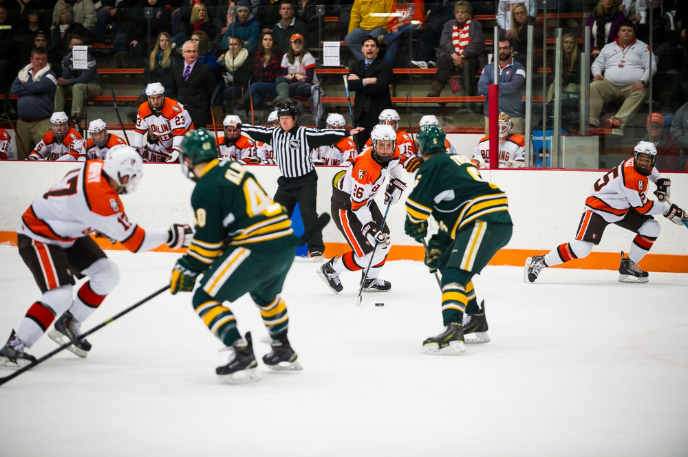 Third Period Woes Continue as Falcons Fall to NMU 4-3