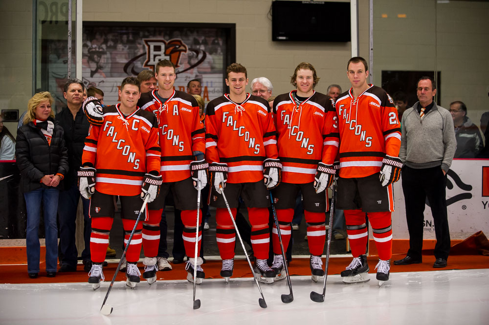 Falcons Sweep Chargers on Senior Night 2-1