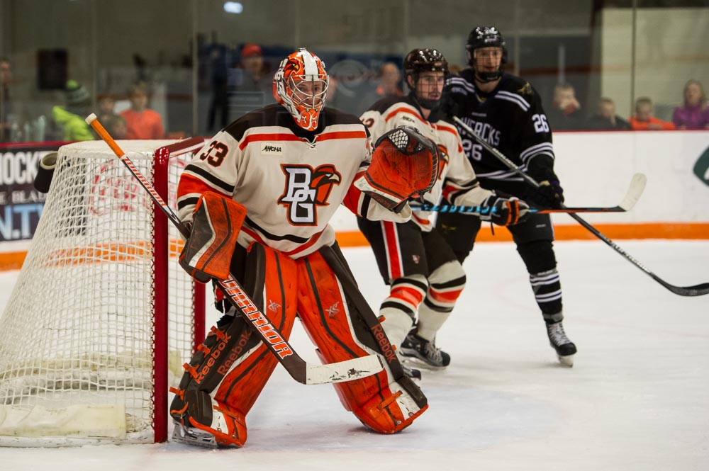 Bergeron optimistic Nell will play this weekend, other Falcon hockey notes