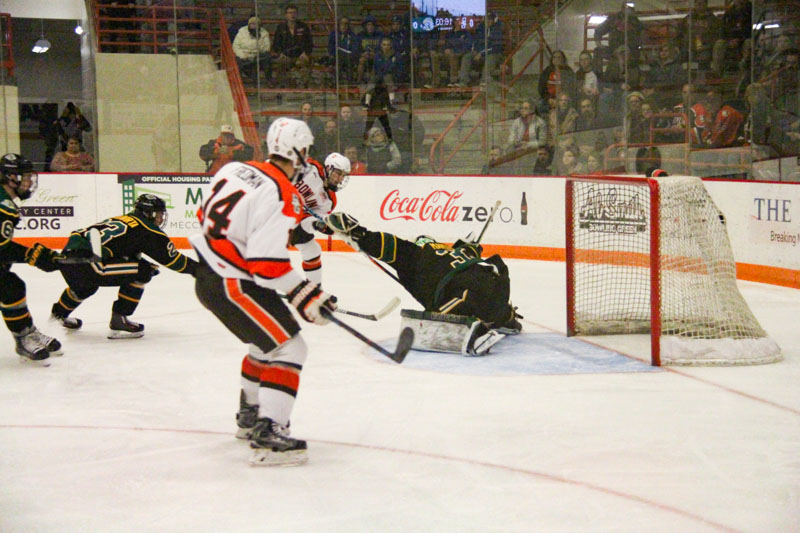 Bednard earns first career shutout in 3-0 win over Seawolves