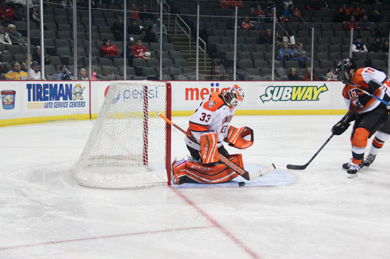 Nell's record-breaking shutout highlights 3-0 win over RIT