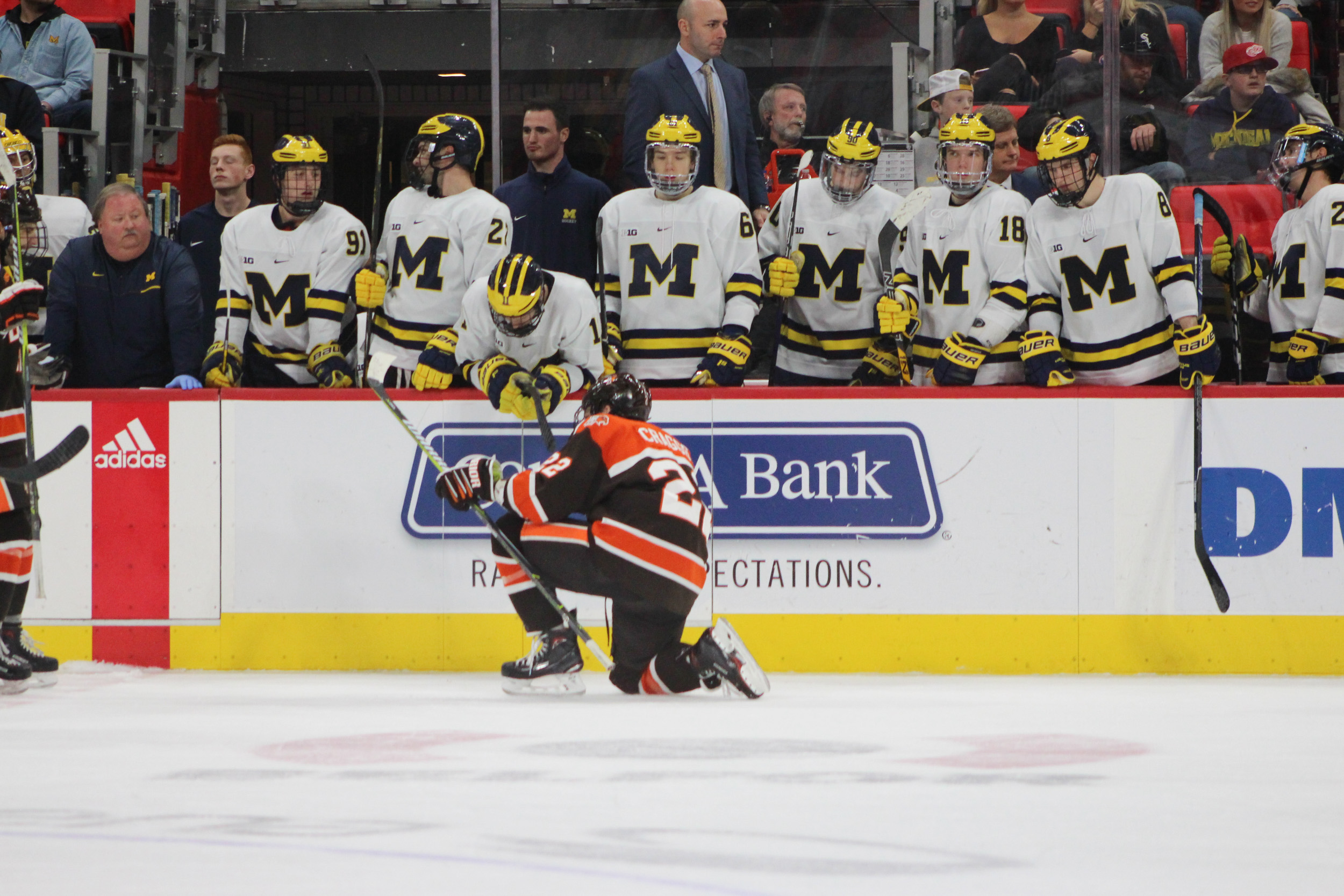 Offensive breakout propels Falcons past Wolverines, 6-4