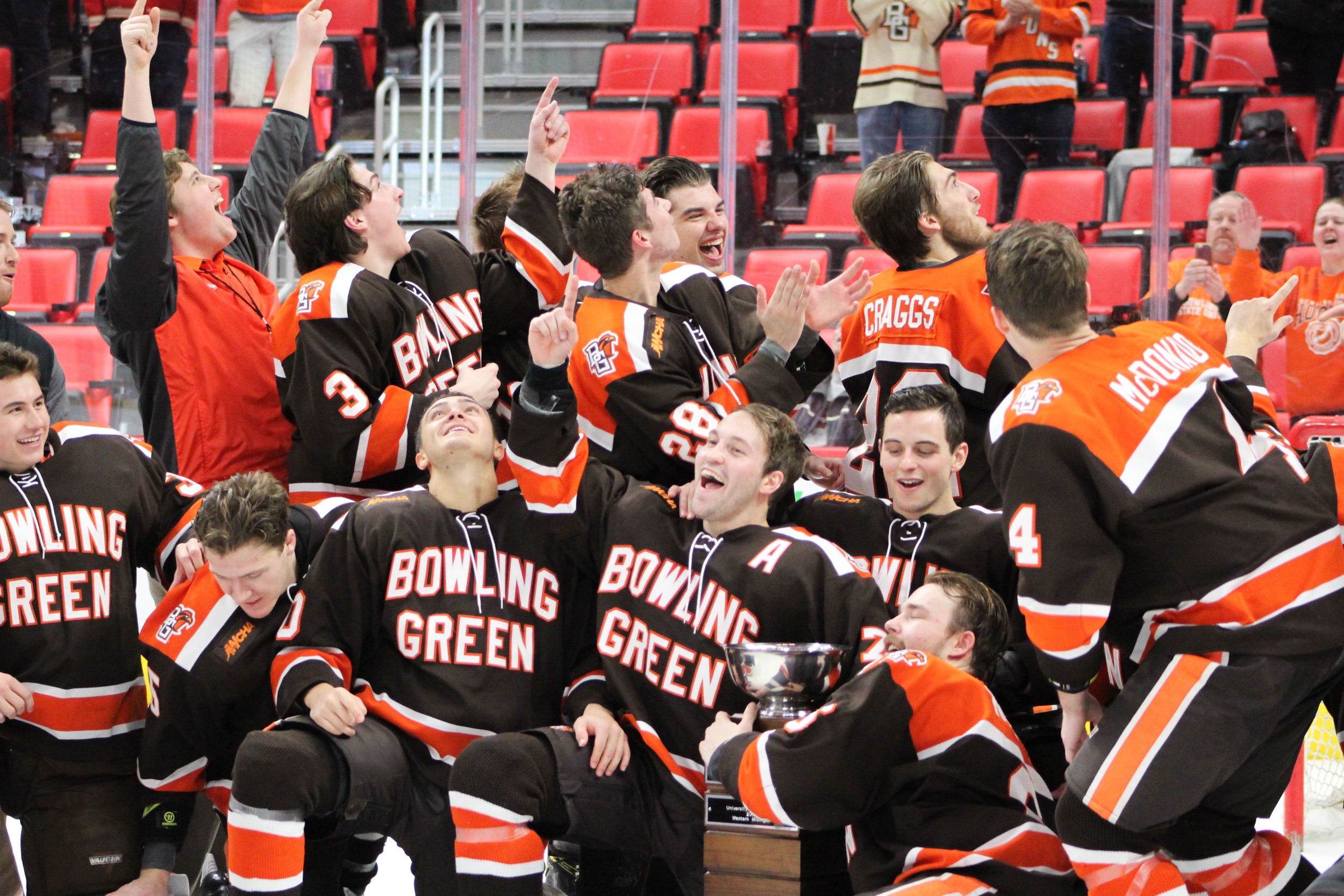 Falcons hoist hardware in Hockey Town