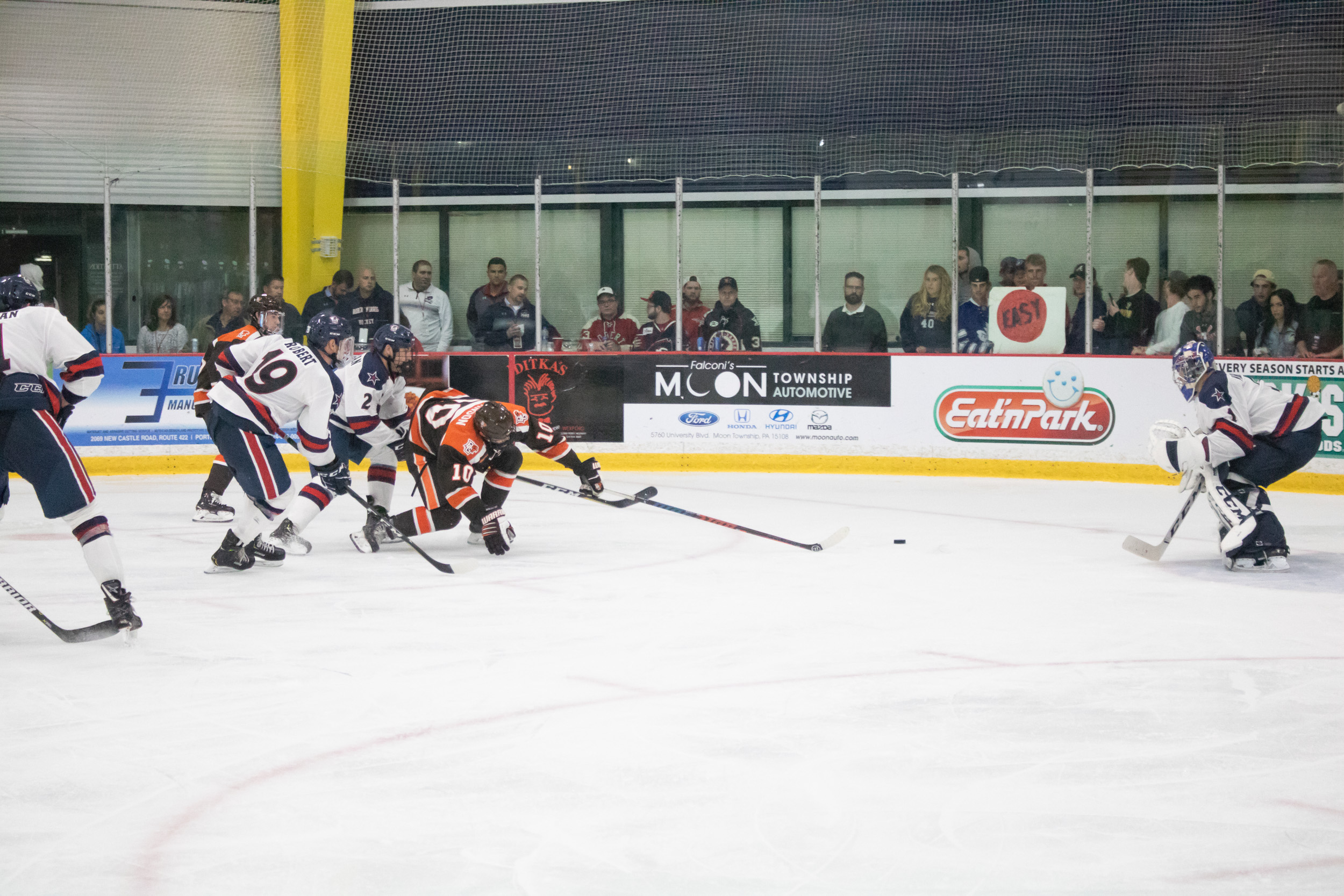 Mistakes doom #20 Falcons in 3-2 loss to Colonials
