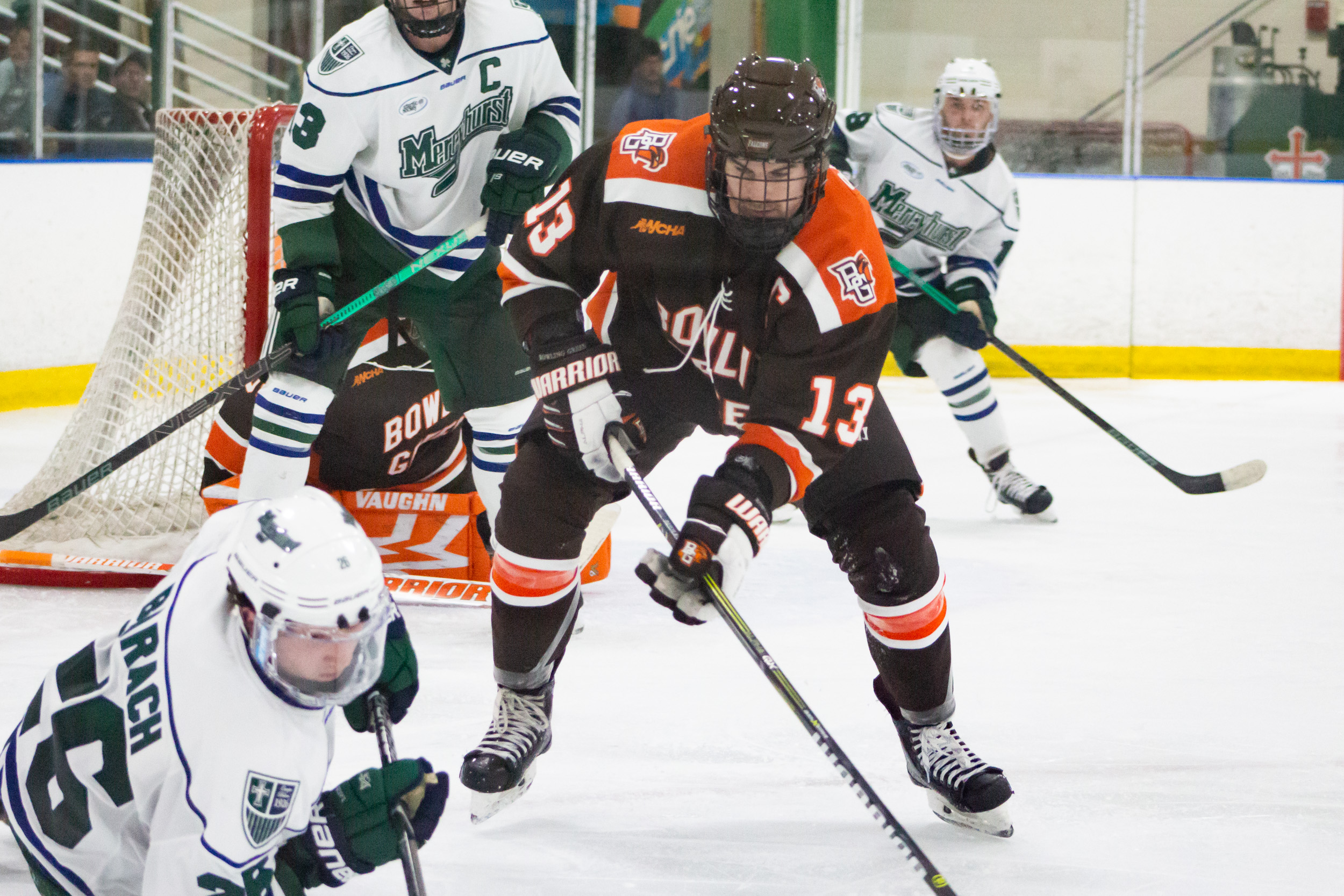 Baylis' hat trick paces BG in dominating 8-2 win over Mercyhurst