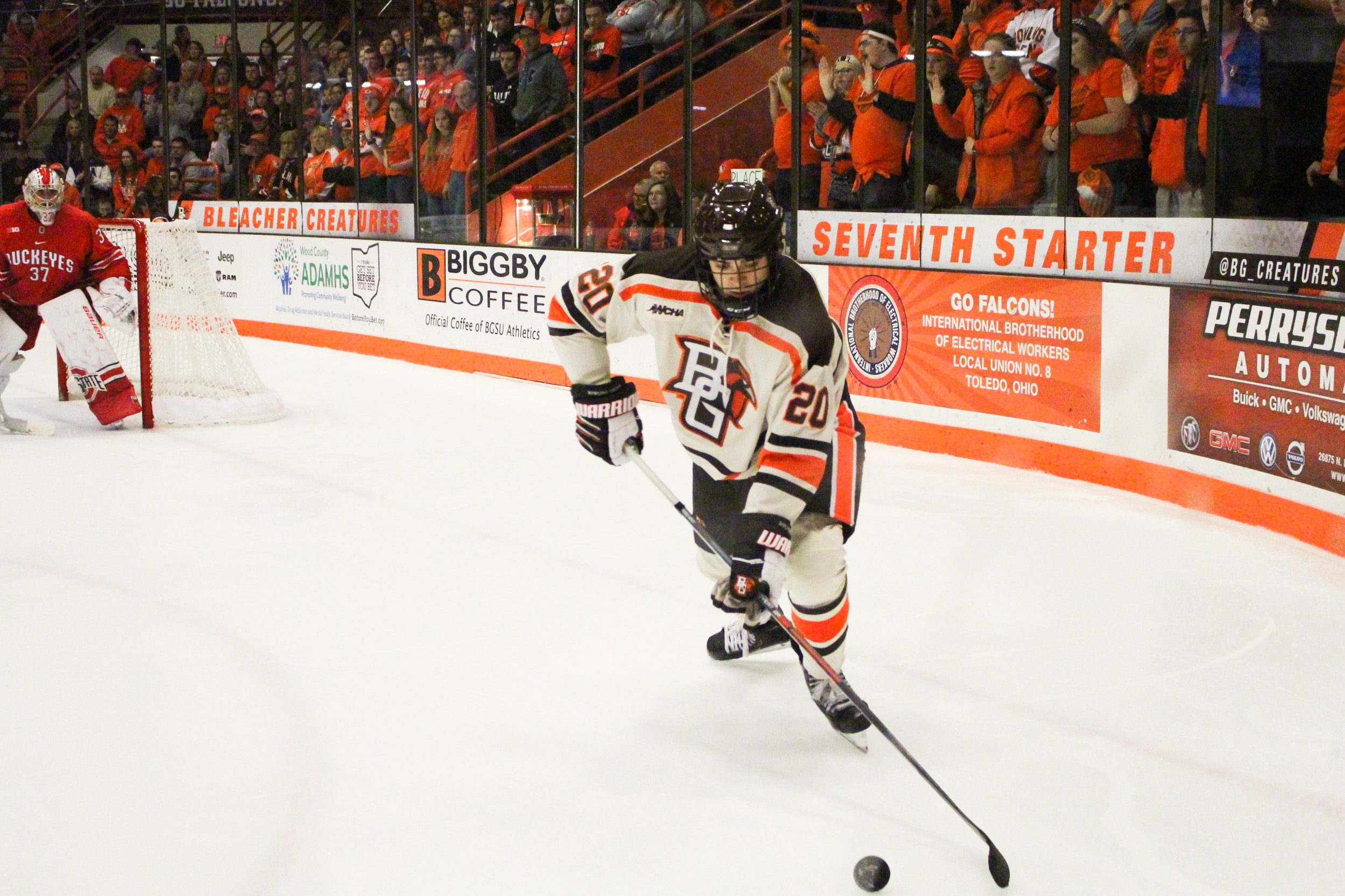 #15 Falcons and #4 Buckeyes skate to 2-2 tie